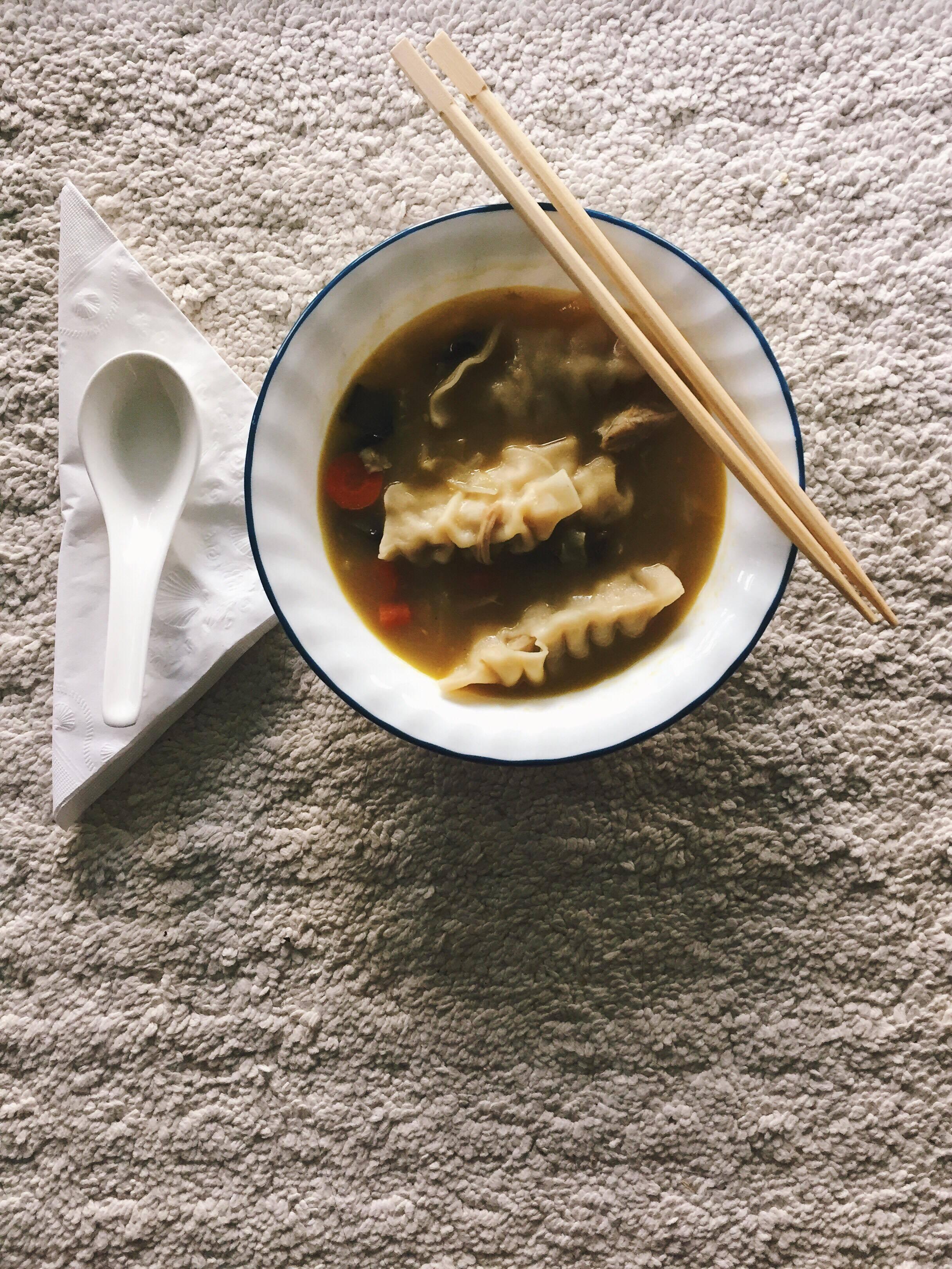 Chicken Jiaozi Soup Recipe